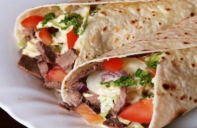 شاورما اللحم بالصور