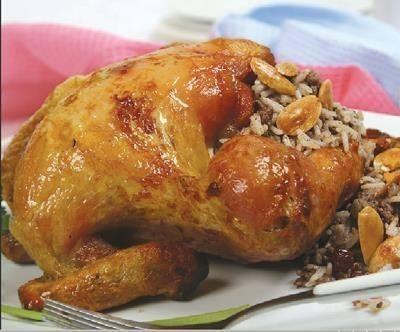 """نتيجة بحث الصور عن طريقة عمل الدجاج المحشي بالرز أو الفريكة"""""""