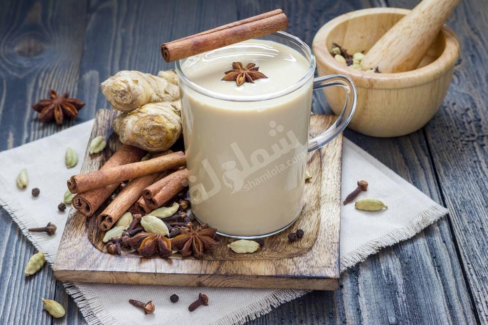 طريقة عمل الشاي الهندي بالحبهان والحليب