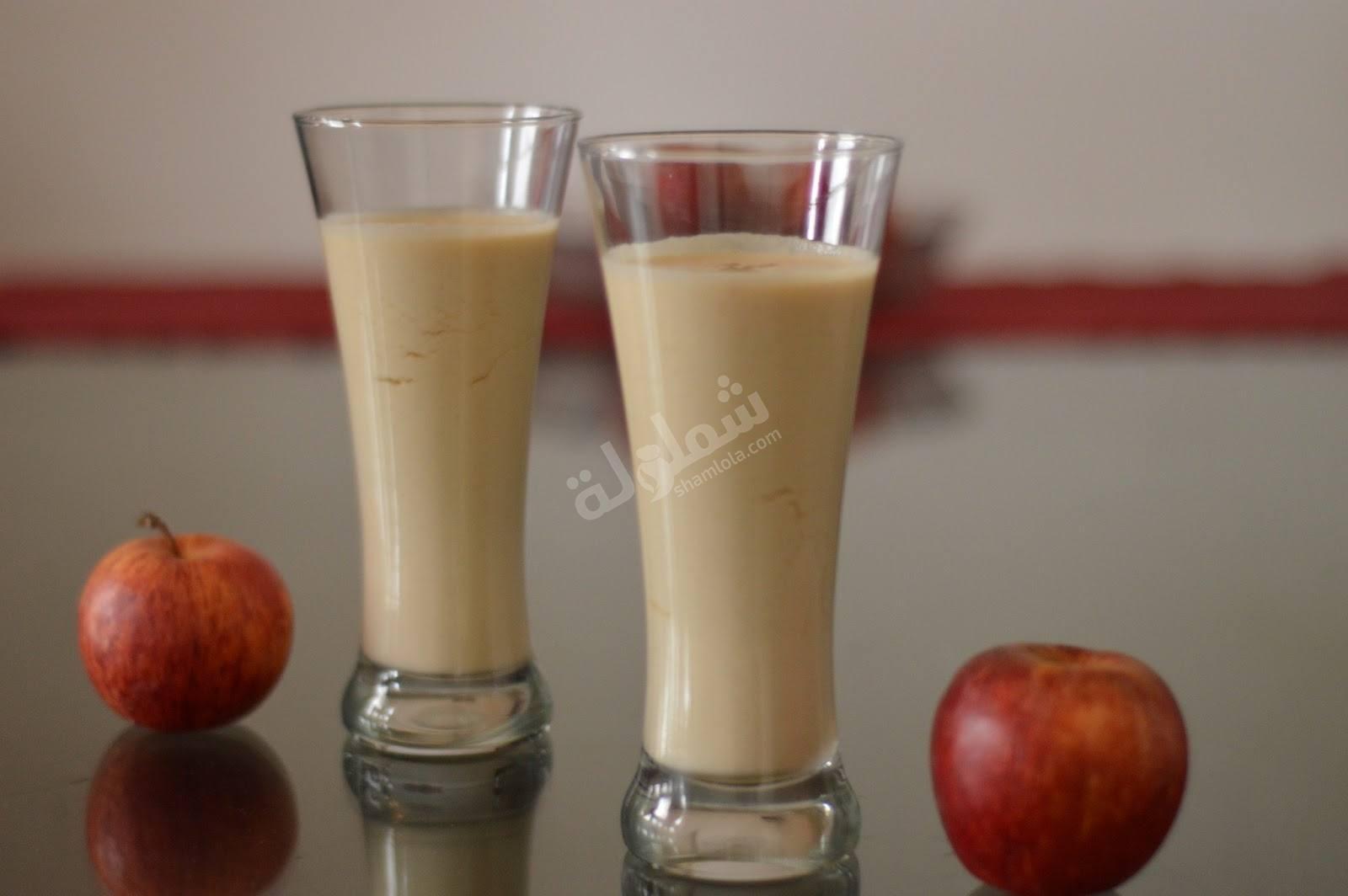طريقة عمل سموثي التفاح والشاي