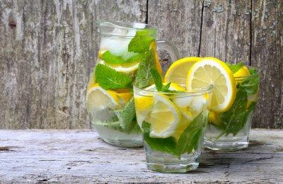 طريقه عمل ديتوكس الليمون بالنعناع