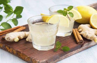 مشروب الزنجبيل والليمون الساخن