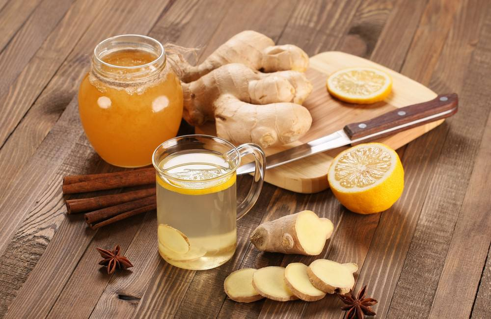 طريقة عمل شاي الزنجبيل بالقرفة والليمون