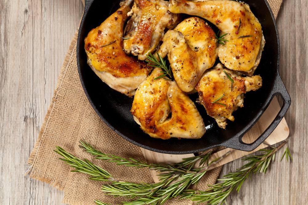 طريقة عمل الدجاج بالثوم و الروزماري