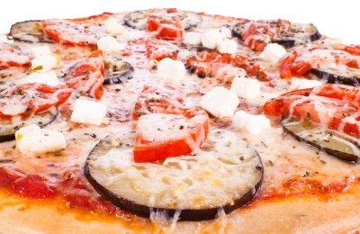 طريقه عمل البيتزا بالباذنجان والثوم